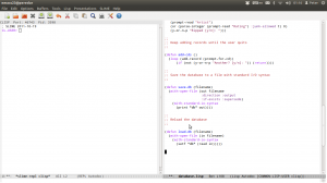 Emacs split screen